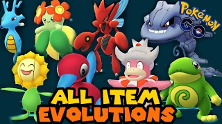 All GEN 2 Evolution Item Evolutions in Pokemon GO!