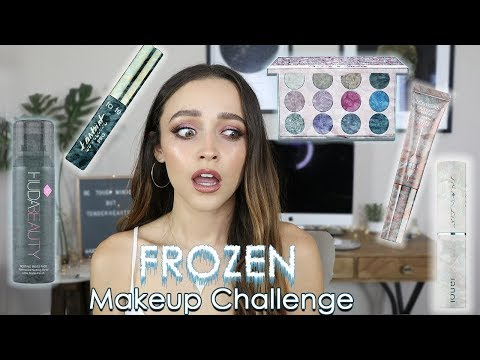 I FROZE MY MAKEUP!!!! | Full Face of Frozen Makeup....... omg