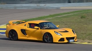 Lotus Exige V6 on track + on board