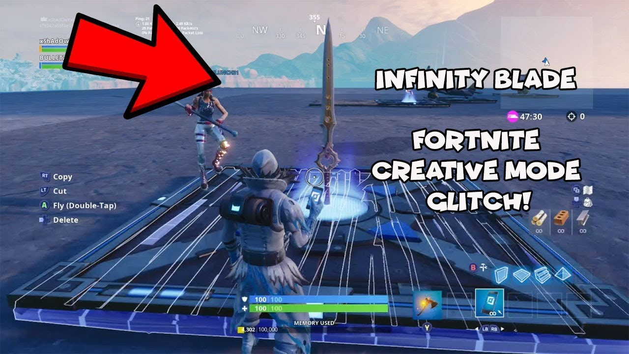 How To Get Infinity Blade In Creative Mode (XBOX, PS4, PC)
