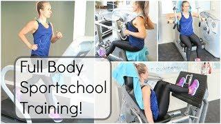 Fitness workout - Sportschool training voor beginners! Full Body