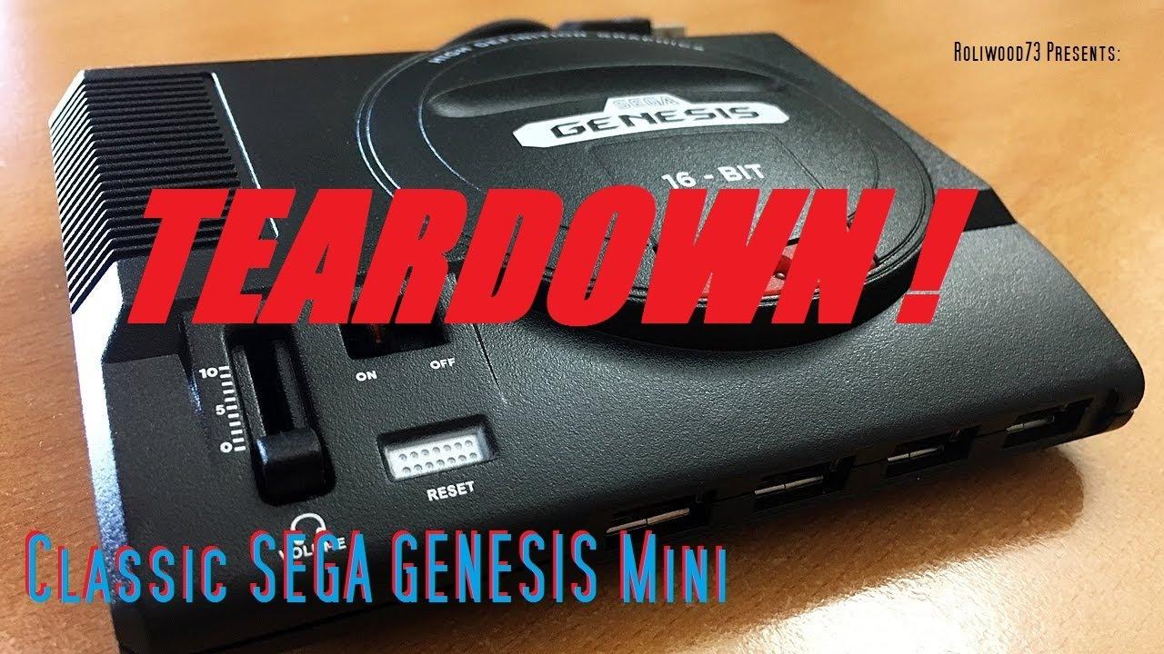 sega genesis classic mini teardown youtube