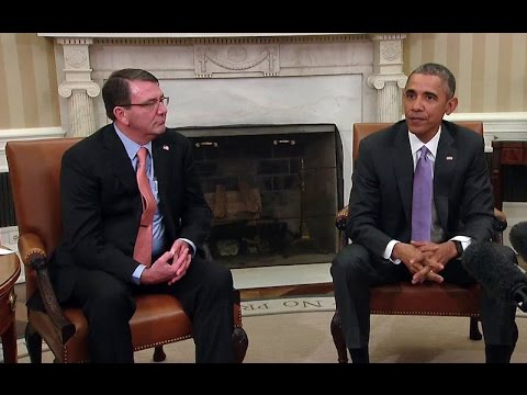 The President Meets with Secretary of Defense Carter