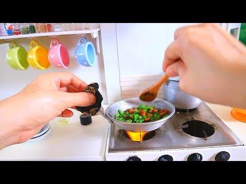 S2 EP35:ASMR COOKING Adobong Sitaw [JUST LIKE HOME KITCHEN SET MINIATURE COOKING]