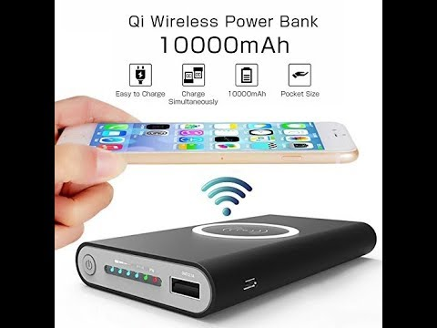 f6a415bf9948e7 YGIVO Power Bank 10000Mah and Wireless Charger - YouTube