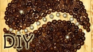 How to Draw with Coffee Beans - Coffee Appliqué Decoration(Welcome to my blog: http://coloredtips.com/ Follow me on Twitter: https://twitter.com/IdunnGoddess Follow me on G+ : https://plus.google.com/+Coloredtips1/ ..., 2012-10-24T02:02:40.000Z)