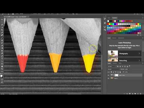 Color Splash in Photoshop using a Layer Mask