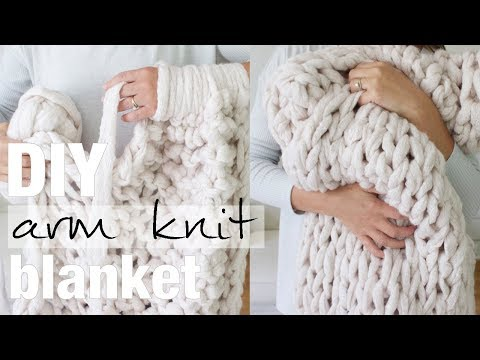 How to Arm Knit a Blanket in 45 Minutes with Simply Maggie NEW!
