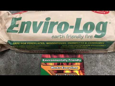 CITY PREPPER'S GUIDE: Enviro-Log and Enviro-Log fire starters Product demo and review!!