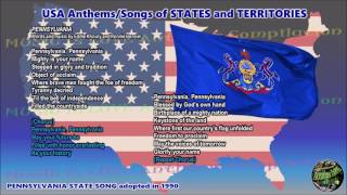 Pennsylvania State Song PENNSYLVANIA with music, vocal and lyrics