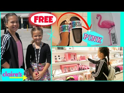 SHOPPING FOR FREE AT VICTORIA SECRET & CLAIR'S