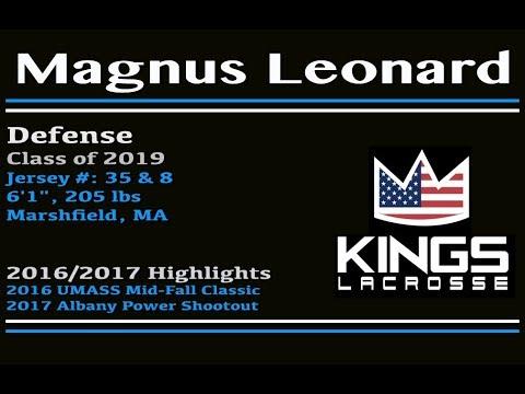 2019 Central King Defensemen Magnus Leonard 20162017 Highlights