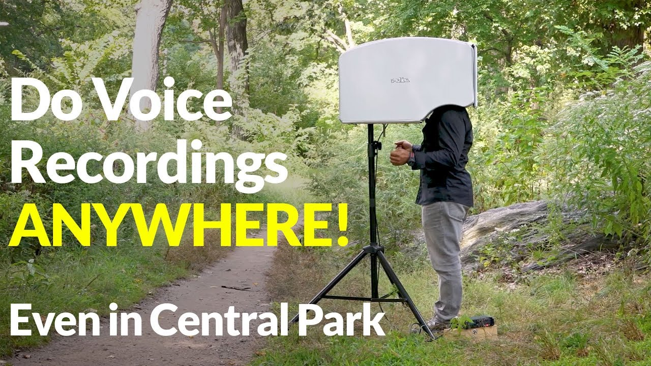 Do Voice Recordings ANYWHERE! Even in Central Park | ISOVOX 2 Vocal Booth