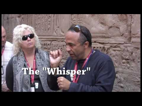 Wireless communication used by tour guides in Egypt