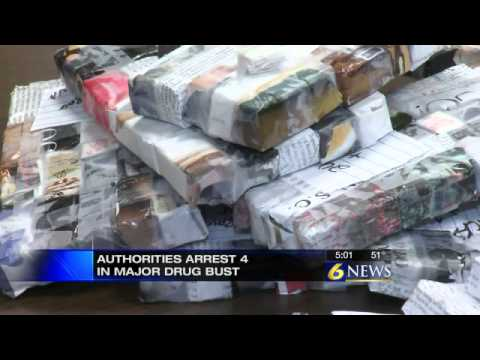 300 Bricks Of Heroin Found In Jeep; Four M