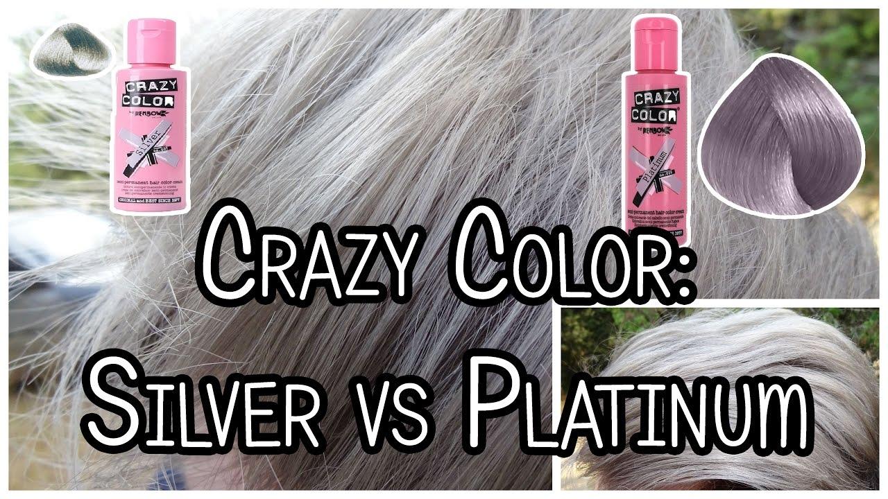 Coloration Crazy Color Silver Vs Platinum Youtube