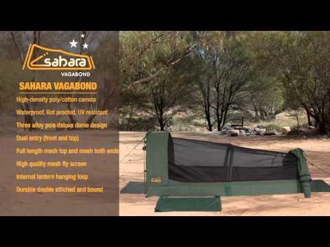 Sahara Vagabond Deluxe King Single Dome Canvas Swag & Bag