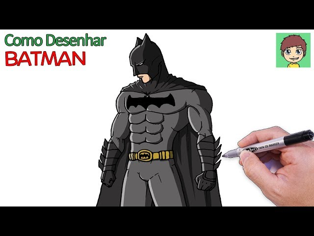 Como Desenhar O Batman Passo A Passo Facil Desenho Para Desenhar
