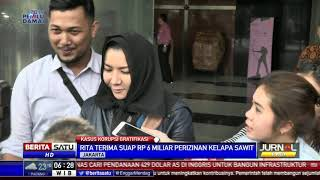 Usai Diperiksa Sebagai Tersangka, Rita Widyasari Enggan Berkomentar