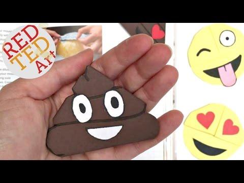 Easy Poop Emoji Bookmark Corners - Origami Inspired - Emoji DIY