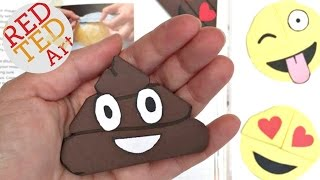 Easy Poop Emoji Bookmark Corners - Origami Inspired - Emoji DIY