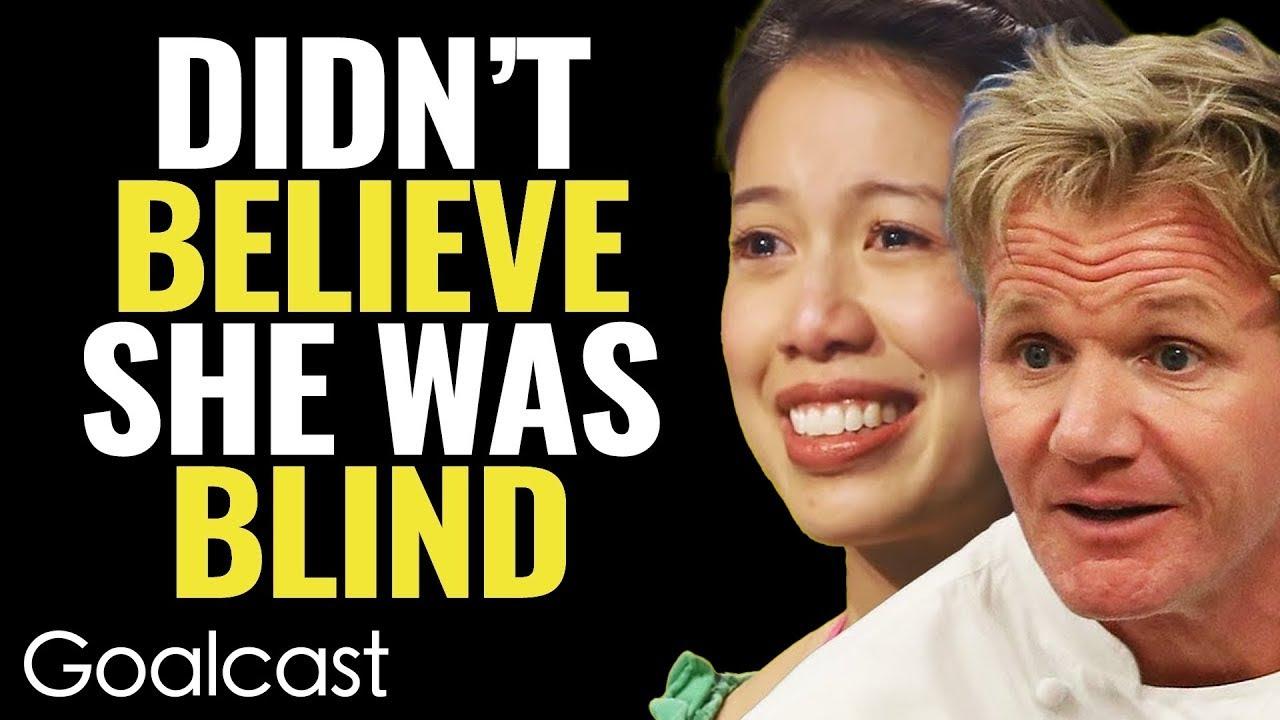 Download INSPIRING BLIND CHEF Makes Gordon Ramsay EAT HIS WORDS! | Christine Ha | Goalcast