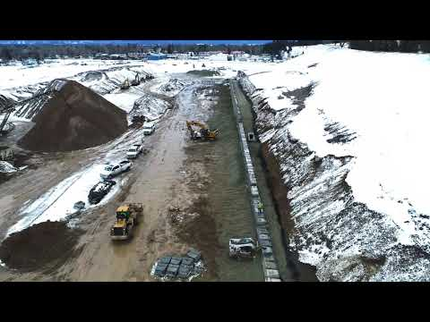 February 7, 2018, Glacier Rail Park During Construction, Kalispell, Montana