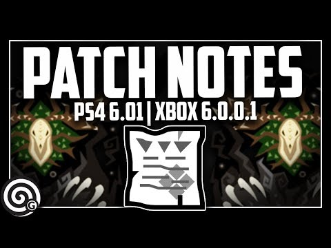 PATCH NOTES - Update PS4 6.01 (Xbox 6.0.0.1) | Monster Hunter World