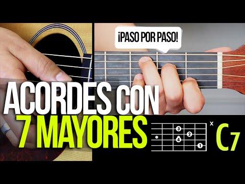 ACORDES MAYORES CON SEPTIMA - !PASO POR PASO!  | APRENDE GUITARRA #3 Prt 5