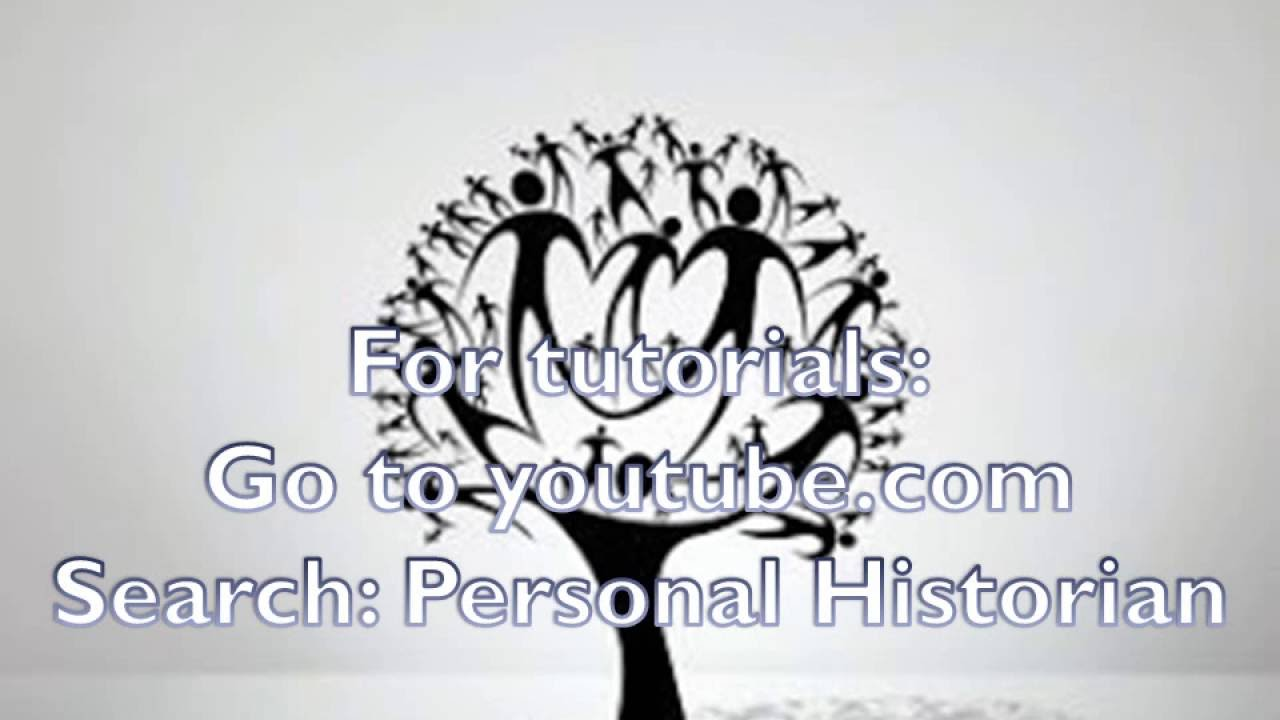 writing your family history youtube