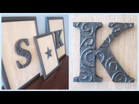 {DIY Decor} DIY Foil Letters