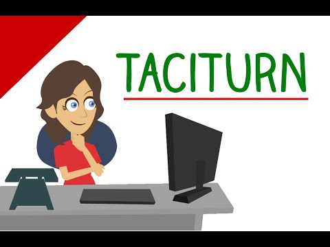 Learn English Words: TACITURN Meaning, Hardest Vocabulary with Pictures and Examples