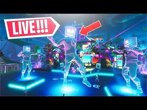 *NEW* The Fortnite MARSHMELLO Event LIVE! (Marshmello LIVE Concert)