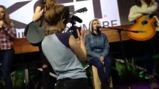 """Lisa Cimorelli singing """"Four Five Seconds"""" at the YouTube Space LA"""