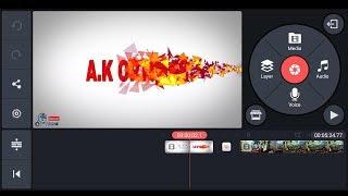 Wie man einen Partikel-intro in kinemaster || kinemaster-tutorial von A. K OPTIMAS