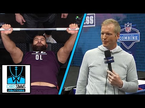 NFL Combine 2019: What it's like to be a bench press spotter | Chris Simms Unbuttoned | NBC Sports