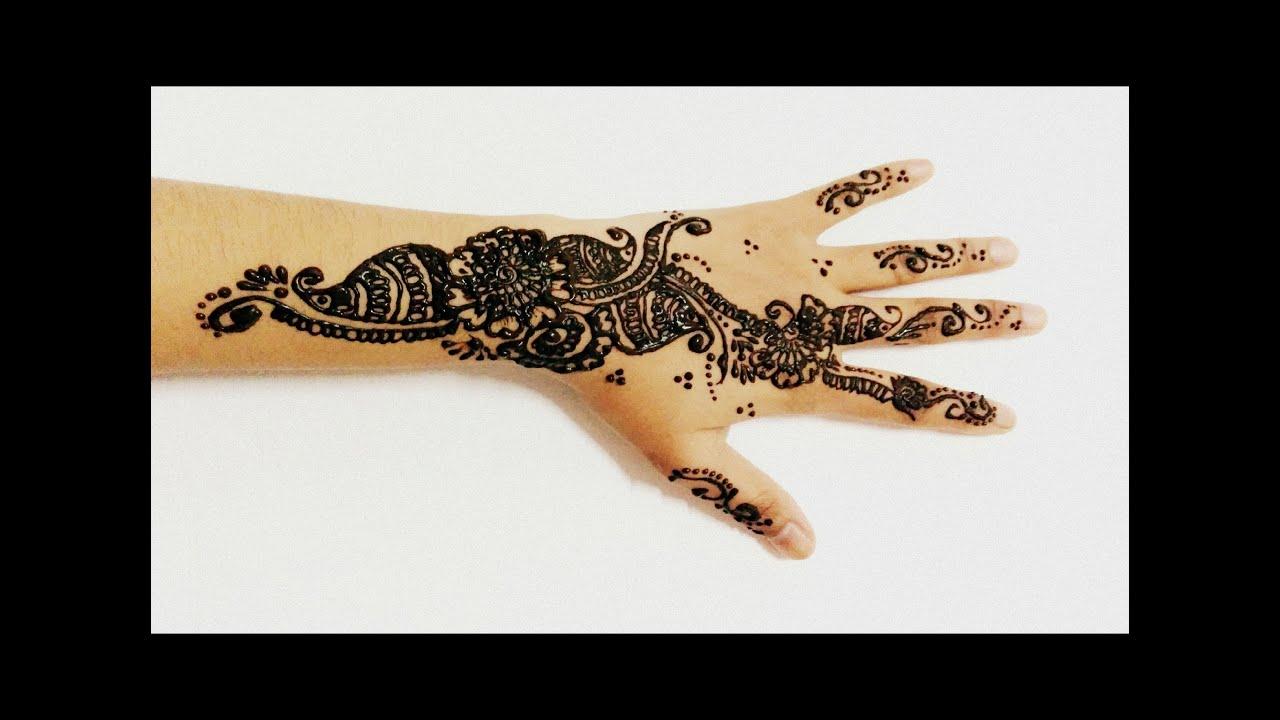 Latest Arabic Mehndi Very Simple Bridal Henna Mehandi For Marriage Diwali Karwachauth Eid Holi 2