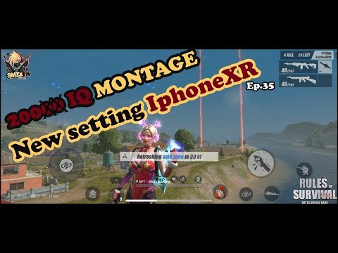 ROS : 1 Vs 5 | 20000 IQ MONTAGE + New setting IphoneXR Ep.35