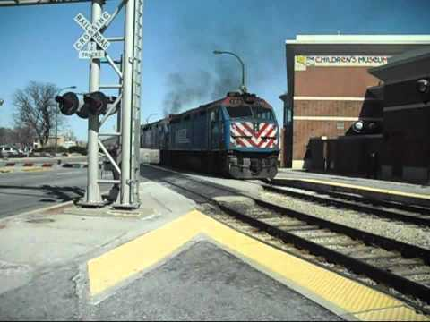Metra Trains at Oak Lawn IL