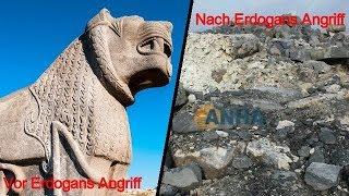 Türkische Armee zerstört 3000 Jahre alten Tempel in Afrin Ain Dara in Nord-Syrien