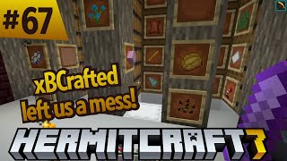 Hermitcraft 7: cleaning up xBCrafted's mess with a redstone item sorter! ep 67