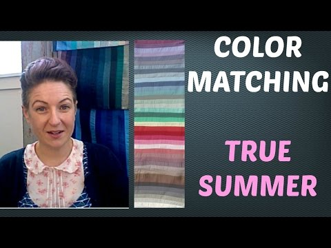 Summer Color Palette - Mix and Matching Colors for Clothing | Cool Skin Undertone | Color Analysis