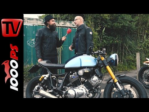 2200 km auf Yamaha XV Café Racer | Thomas am Wheels & Waves 2016