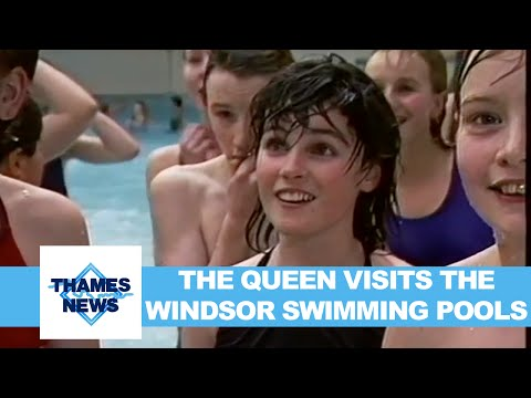 The Queen Visits The Windsor Swimming Pools | Thames News
