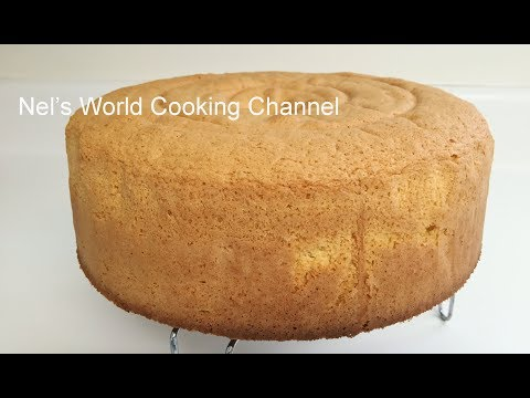Easy Sponge Cake Recipe - Vanilla Sponge Cake Recipe - How To Make Super Soft Sponge Cake - Biskvit