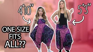 Women Try One Size Fits All Clothes