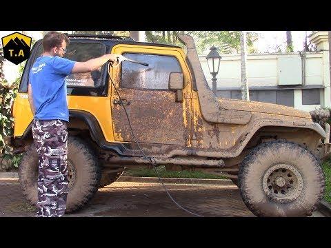 Lavando o Troller T4 depois da Trilha!!