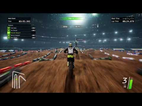 Monster Energy Supercross Gameplay - Xbox One X 4k Gameplay