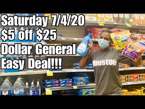 Dollar General 4th Of July $5 Off $25 | ALL DIGITAL COUPONS IN & OUT The Store!