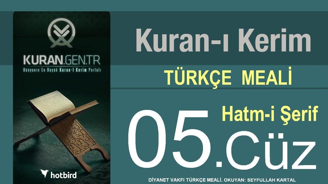 Türkçe Kurani Kerim Meali, 05 Cüz, Diyanet işleri vakfı meali, Hatim, Kuran.gen.tr